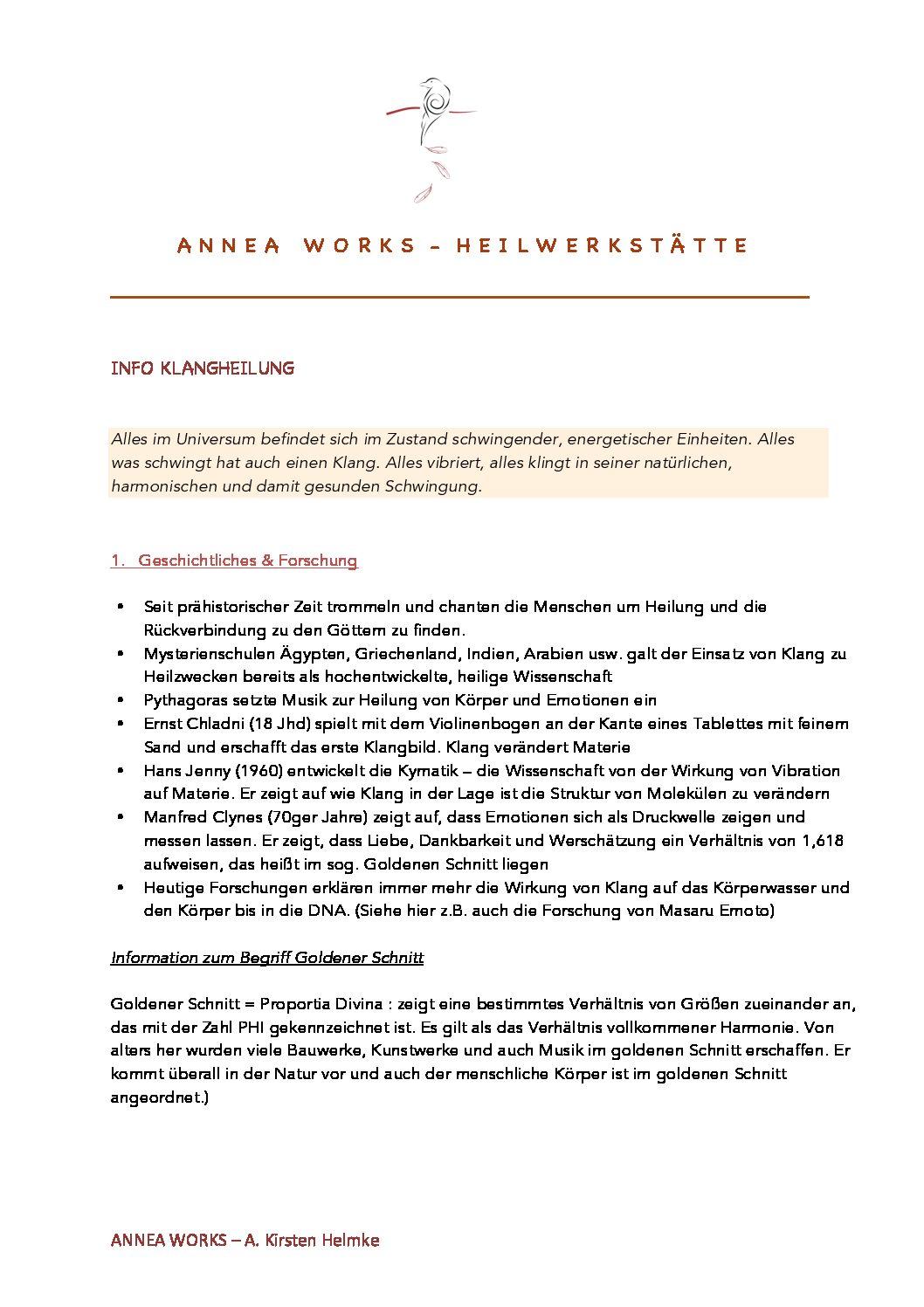 Info - Soundhealing/Klangheilung