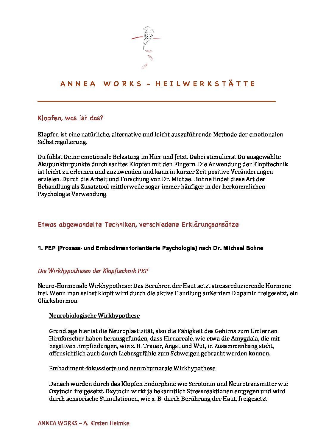 Info - Klopftechniken