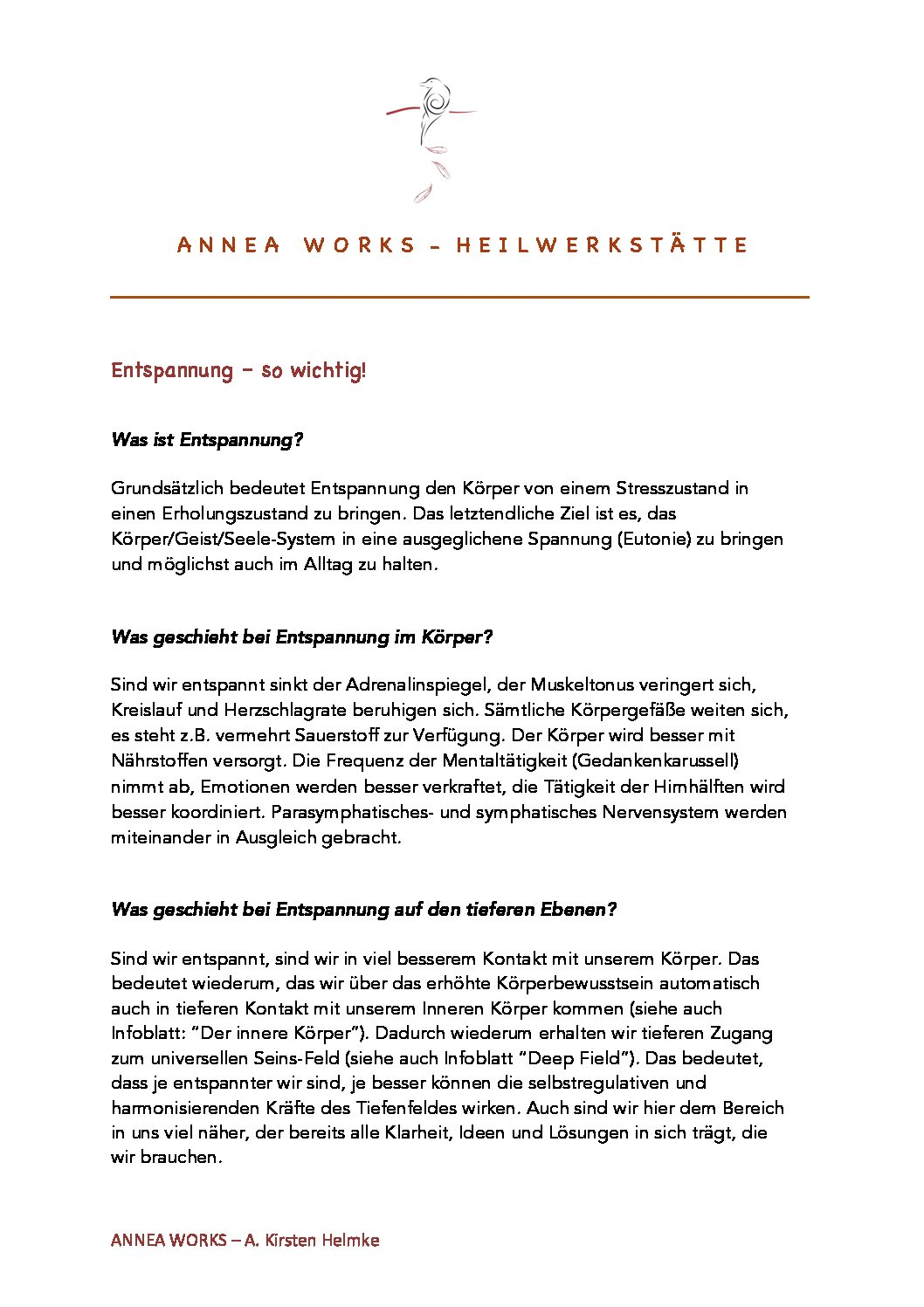 Info Entspannung