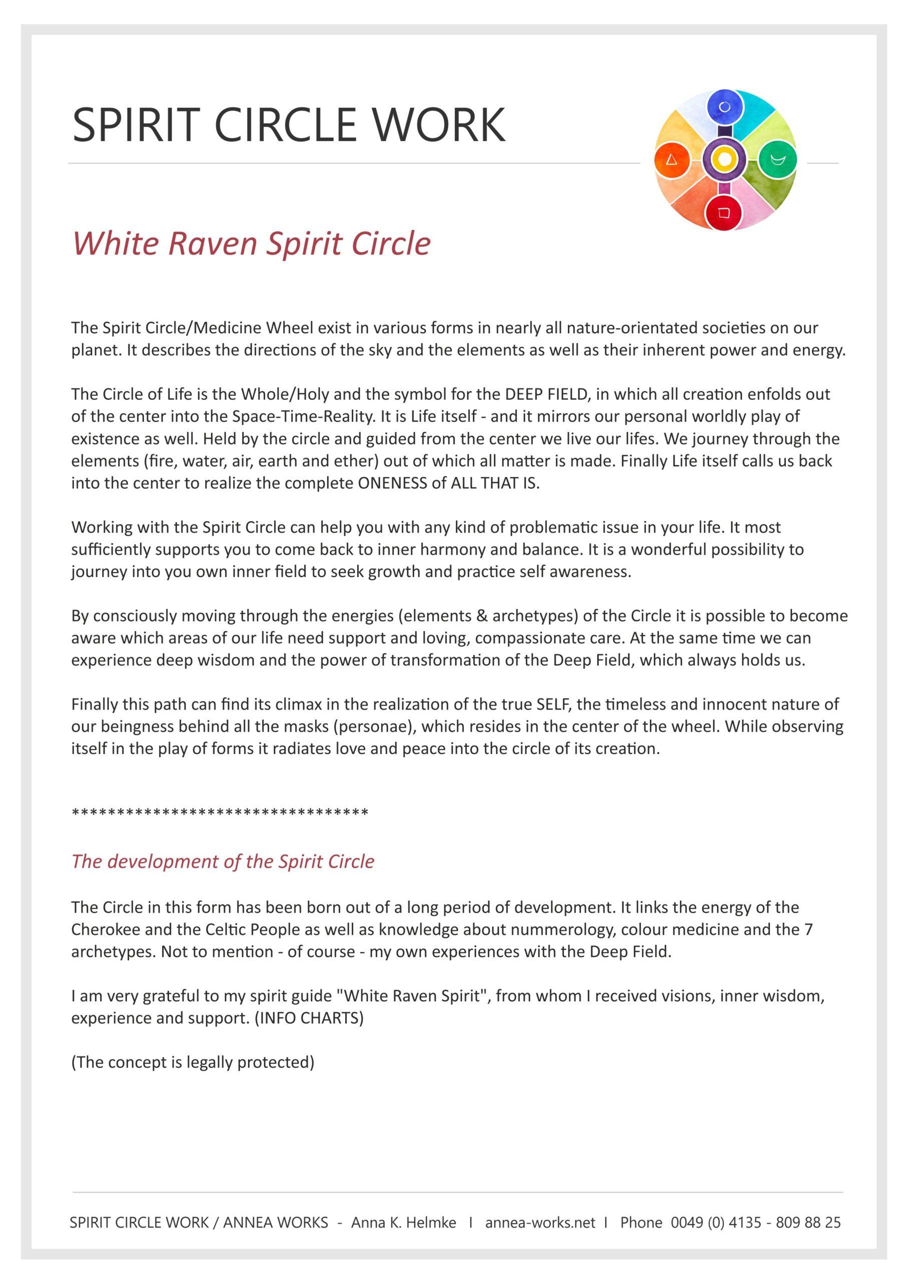Basic Info Spirit Circle